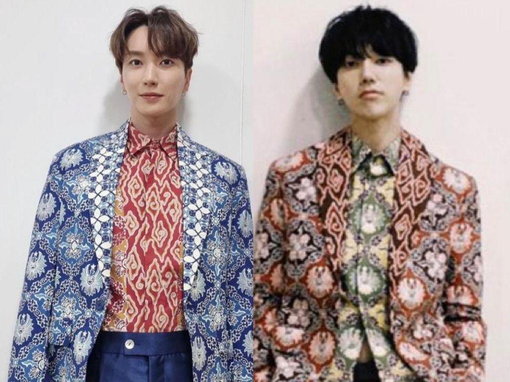 Penampilan Personel Super Junior Pakai Batik Rancangan Ridwan Kamil