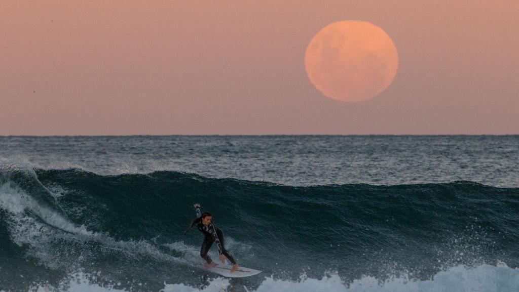 Penampakan Bulan Purnama dari Sydney