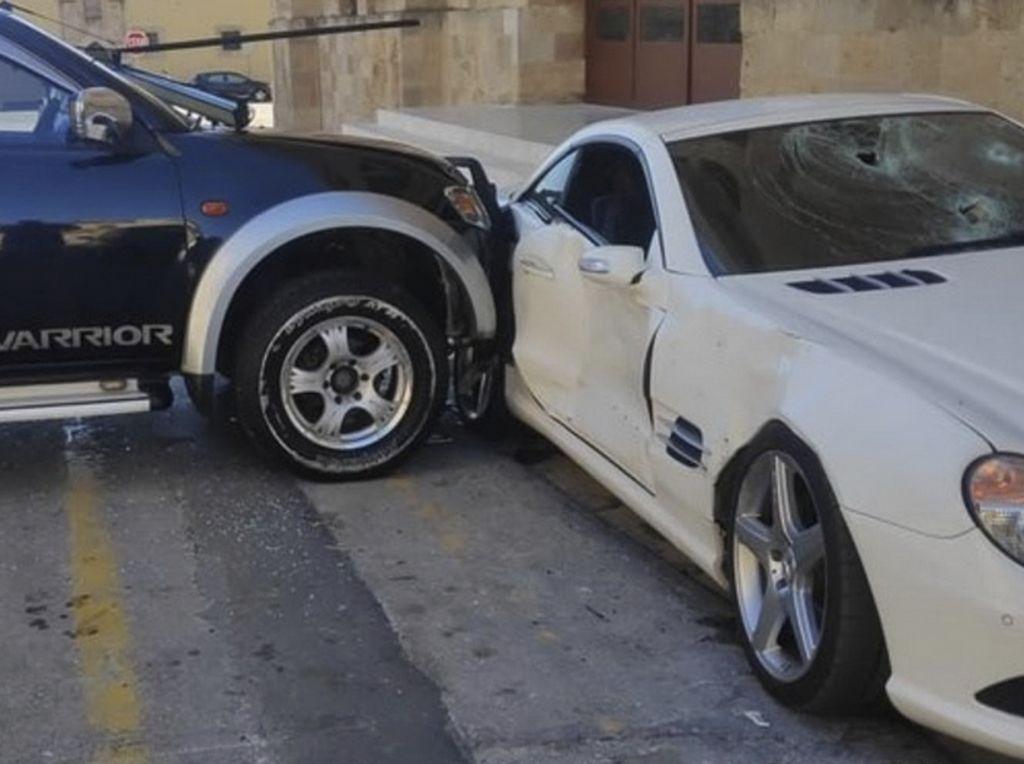 Polisi Ngamuk Nekat Tabrak-Rusak Mercedes SL Komandannya Sendiri sampai Ringsek