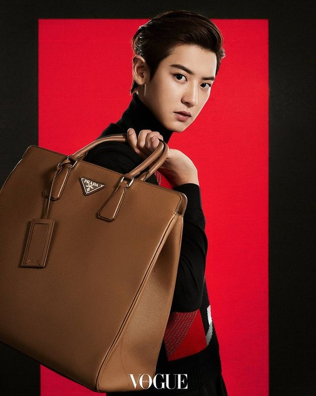 Chanyeol EXO menjadi wakil brand ambassador Prada (foto: instagram.com/real__pcy)