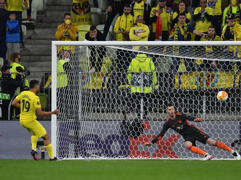 Villarreal vs MU: De Gea Dapat Contekan, Masih Saja Kalah Tos-tosan