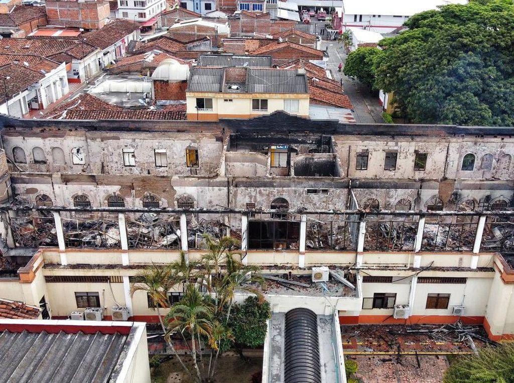 Demo di Kolombia Belum Reda, Gedung Pengadilan Dibakar Massa
