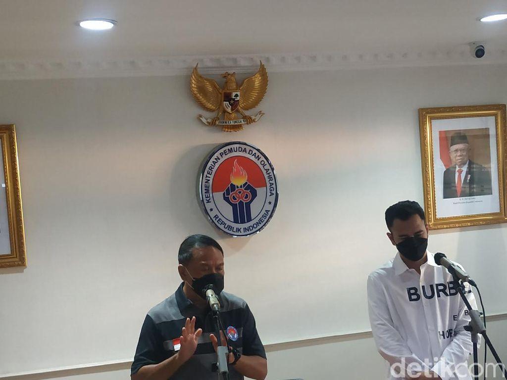 Raffi Ahmad-Menpora Bahas Pengembangan Bisnis Sepakbola