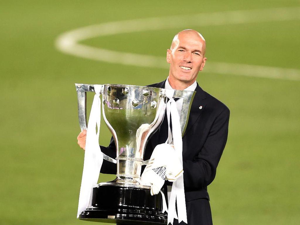 Zidane, 1 dari 2 Pelatih Real Madrid dengan Trofi Dua Digit