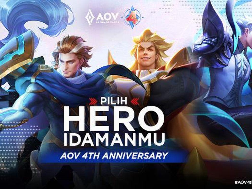 Inilah Hero-Hero Gratis di Ulang Tahun Arena of Valor yang Ke-4