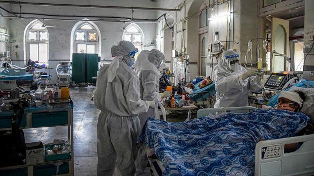 Mengintip Bangsal ICU COVID-19 di India