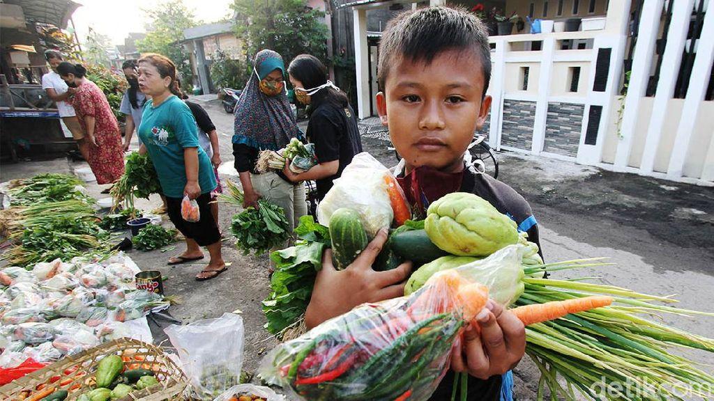 Asyik... Belanja Sayur di Sini Bayarnya Sukarela