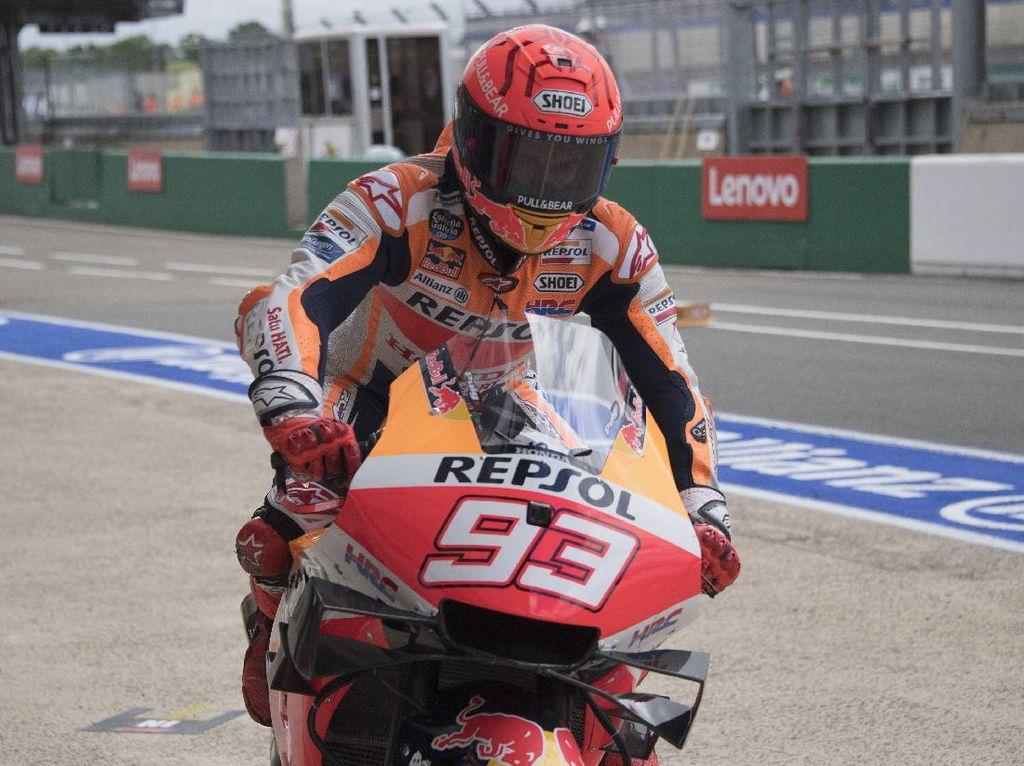Marc Marquez Menahan Sakit di Free Practice MotoGP Italia 2021