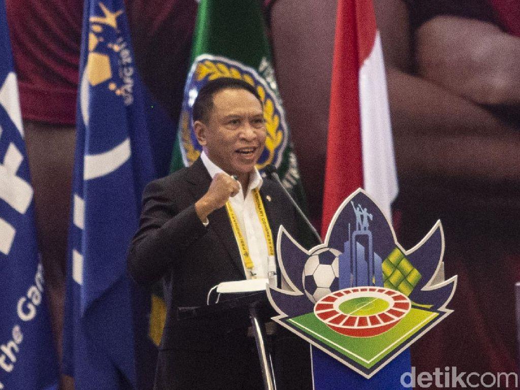 2 Keinginan Ketum PSSI Ini Sudah Disampaikan Menpora ke Jokowi