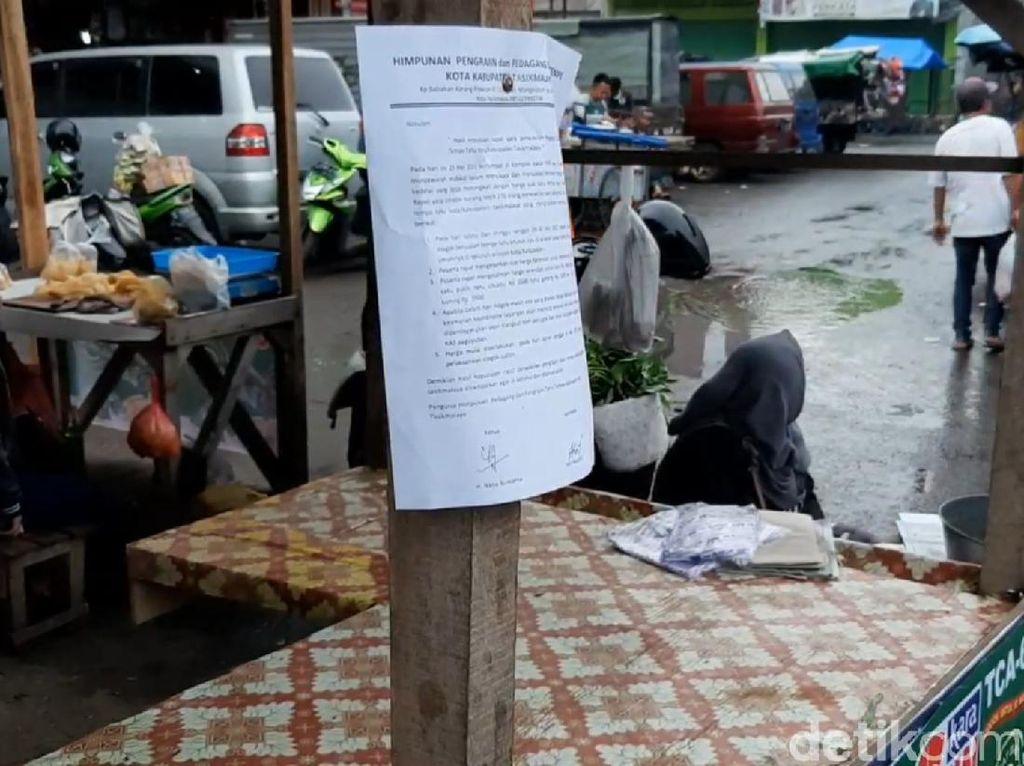 Lapak Pedagang Tahu Tempe di Pasar Cikurubuk Tasik Kosong, Pembeli Kelimpungan