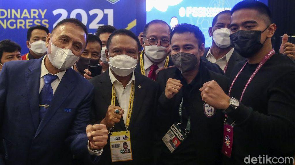 Potret Raffi-Kaesang di Kongres PSSI