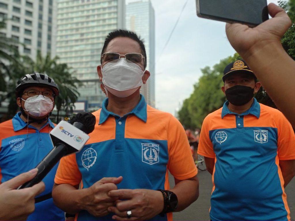 Kata Dishub DKI soal Peleton Road Bike Jalur Kanan Diacungi Jari Tengah