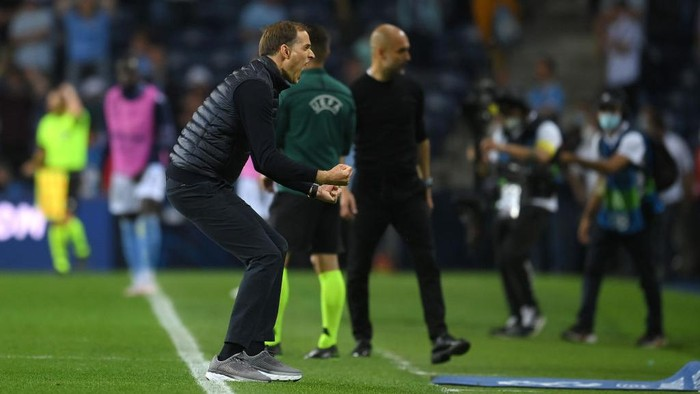 PORTO, PORTUGAL - MAY 29: Thomas Tuchel, Manager of Chelsea celebrates following victory during the UEFA Champions League Final between Manchester City and Chelsea FC at Estadio do Dragao on May 29, 2021 in Porto, Portugal. (Photo by David Ramos/Getty Images)