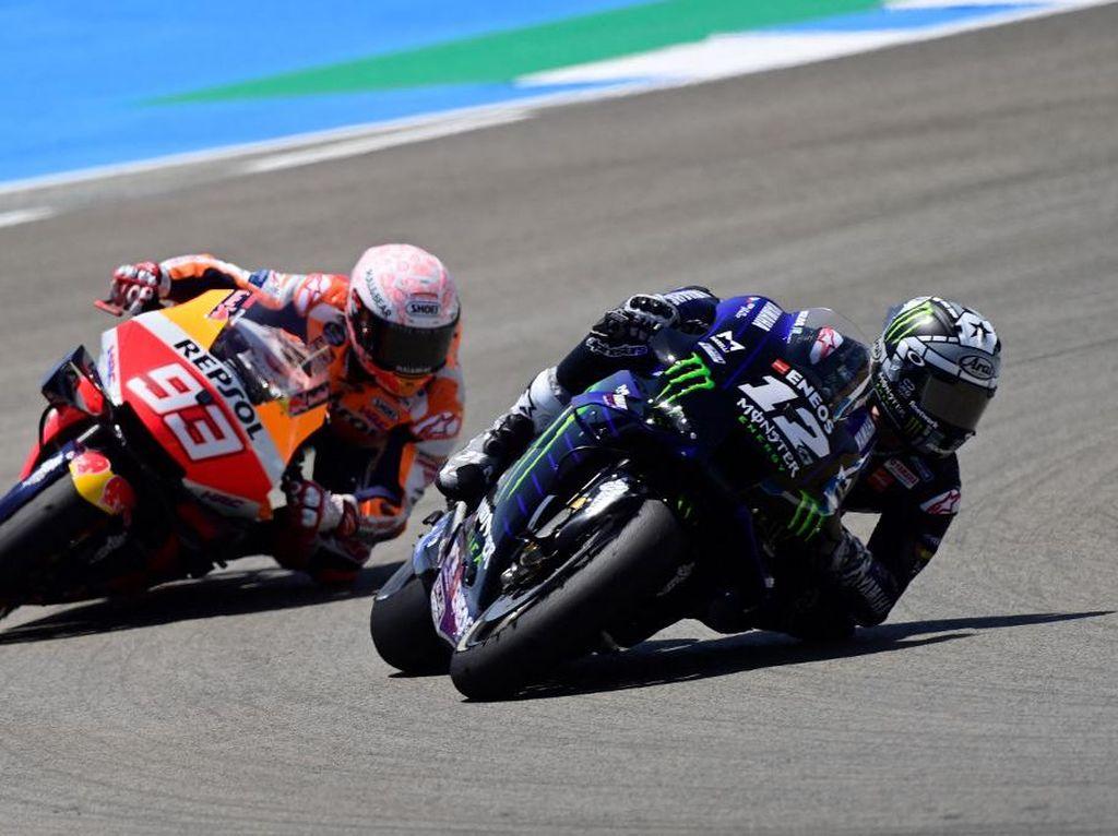 Yamaha Sembur Marquez karena Bayangi Vinales di Kualifikasi MotoGP Italia