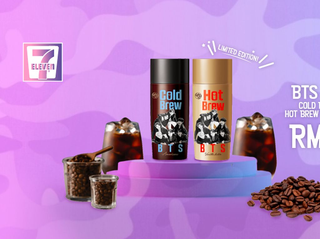 ARMY! 7-Eleven Kini Tawarkan Cold Brew dan Hot Brew BTS