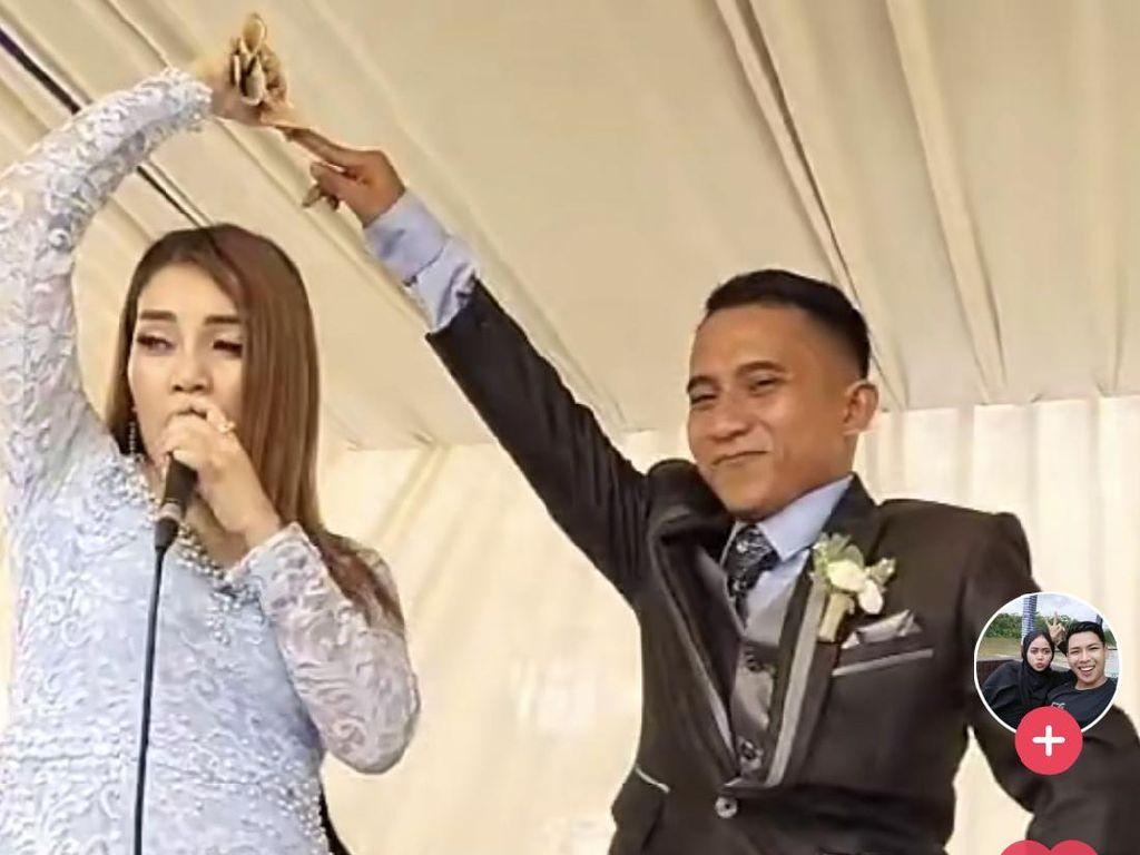 Viral Pengantin Pria Dijewer Istri, Joget Bareng Biduan di Hari Pernikahan