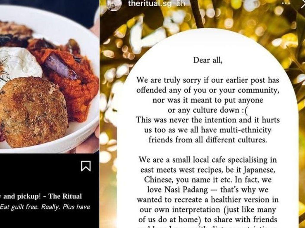 Sajikan Nasi Padang tanpa Zat Kotor, Kafe di Singapura Ini Dikritik dan Minta Maaf