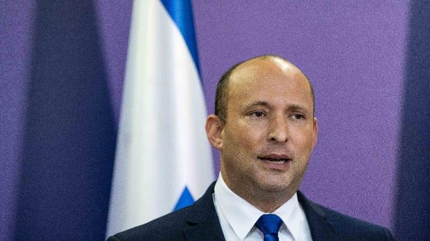 Leader of the Yamina party Naftali Bennett delivers a statement in the Knesset, the Israeli Parliament, in Jerusalem May 30, 2021. Yonatan Sindel/Pool via REUTERS