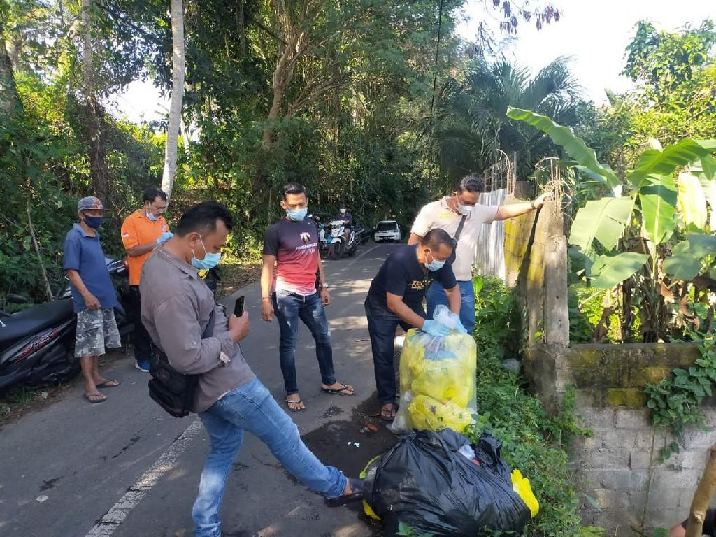 Polisi Selidiki 35 Kg Limbah Medis Dibuang Sembarangan di Bali