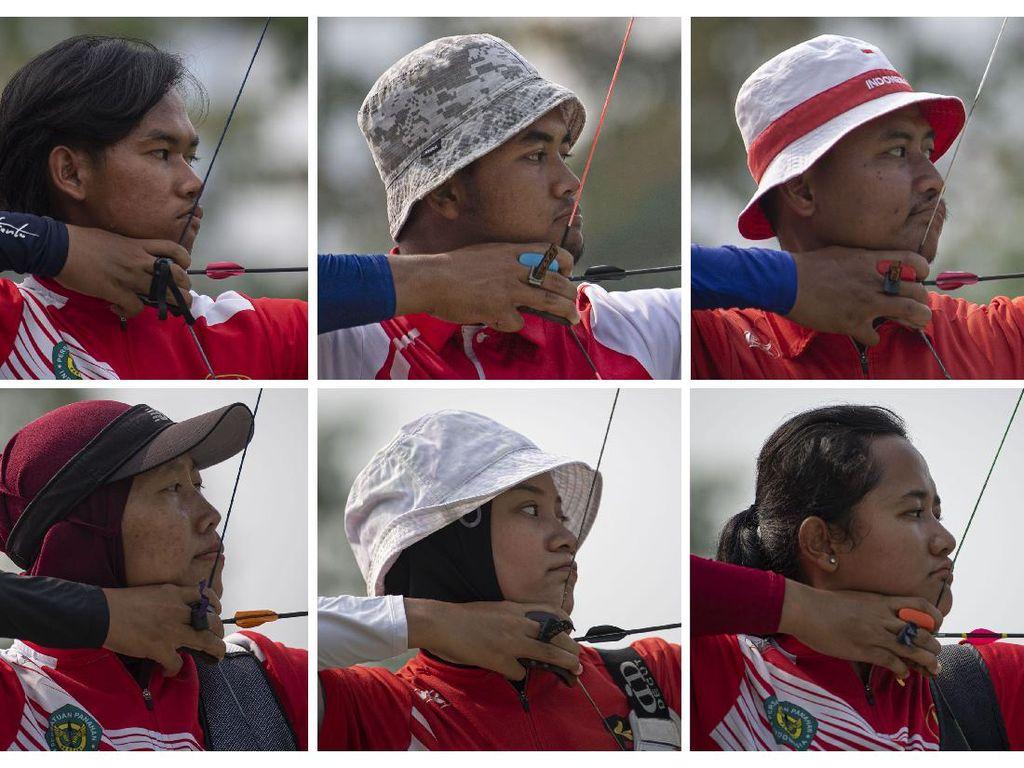 Aksi Latihan Atlet Panahan RI Jelang Olimpiade Tokyo