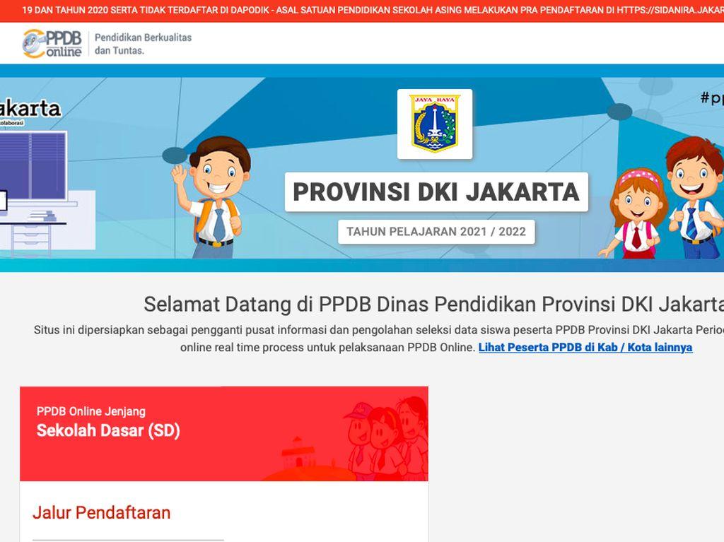 Tahapan Pendaftaran PPDB DKI Jakarta 2021 Jenjang SD, SMP, SMA/SMK