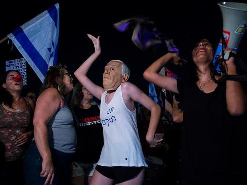 Warga Israel Demo Dukung Oposisi Gulingkan PM Netanyahu