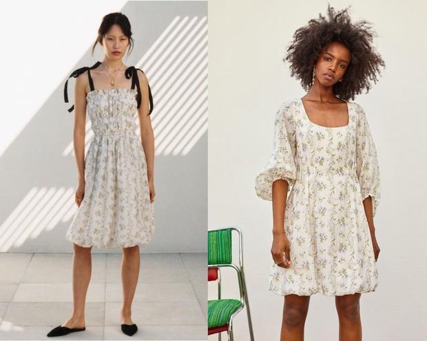 Koleksi dress H&M x Brock yang penuh motif bunga.