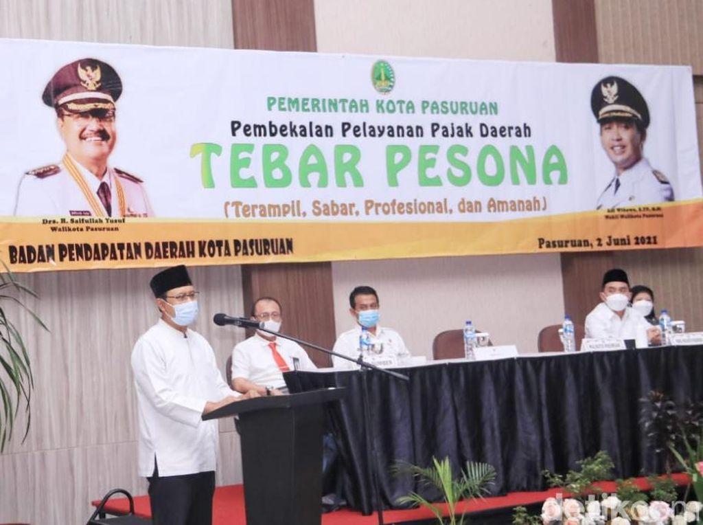 Gus Ipul Tebar Pesona Genjot Penerimaan Pajak Kota Pasuruan