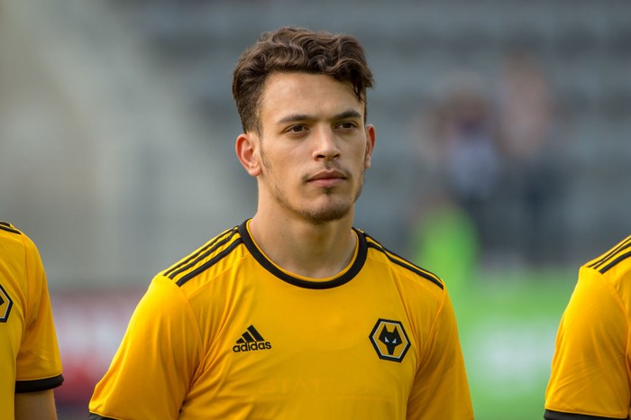BIEL, SWITZERLAND - JULY 10: #14 Pedro Goncalves of Wolverhampton Wanderers looks on during the Uhrencup 2018 on July 10, 2018 at the Tissot Arena in Biel, Switzerland. (Photo by Robert Hradil/Getty Images)