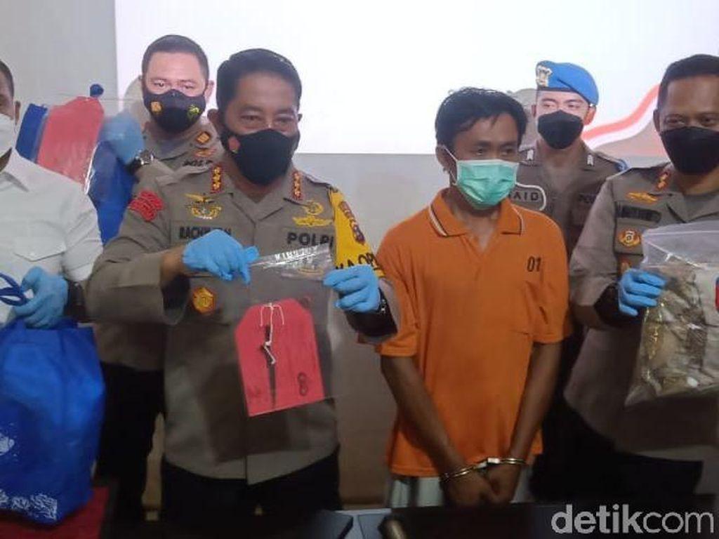 Penampakan Pemutilasi Wanita di Banjarmasin Dipamerkan Polisi