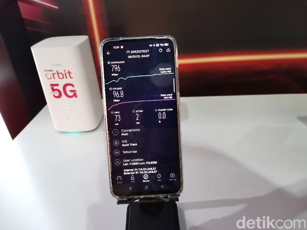 Uji Coba Jaringan 5G Telkomsel di Solo, Tembus 796 Mbps