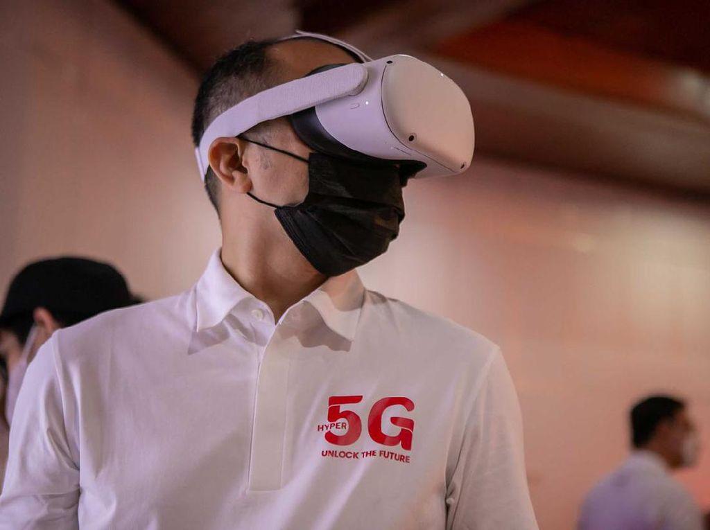Aksi Uji Coba Kemampuan Jaringan 5G di Solo