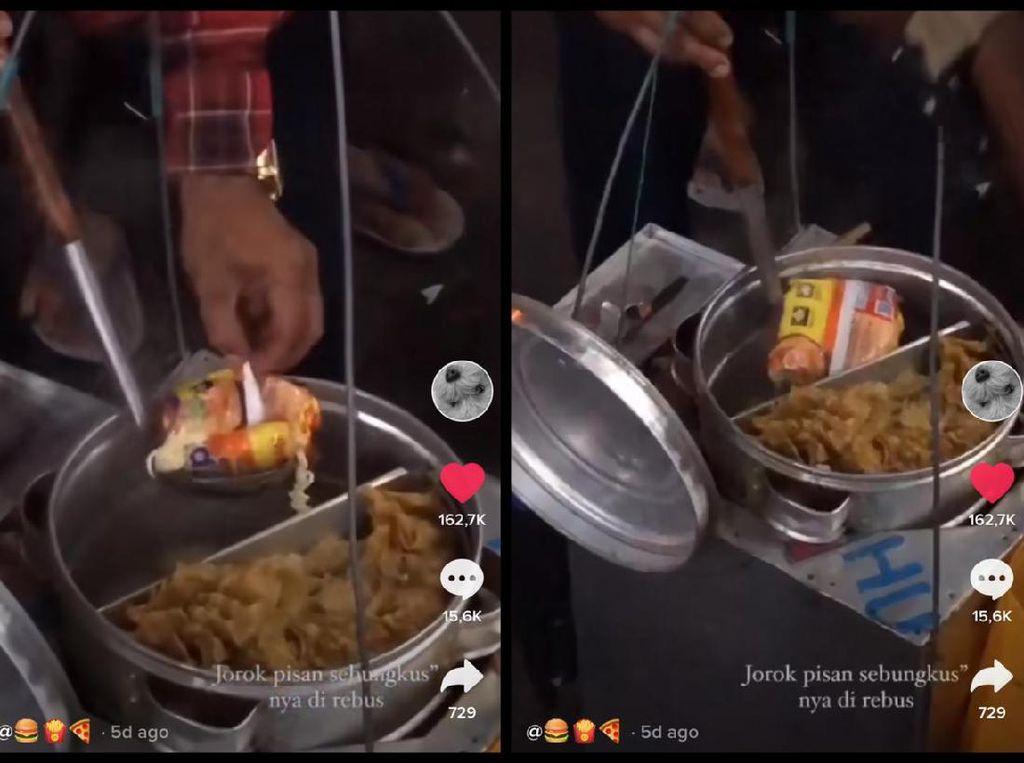 Viral Tukang Bakso Masak Mi Instan Berikut Bungkusnya, Netizen Pro Kontra