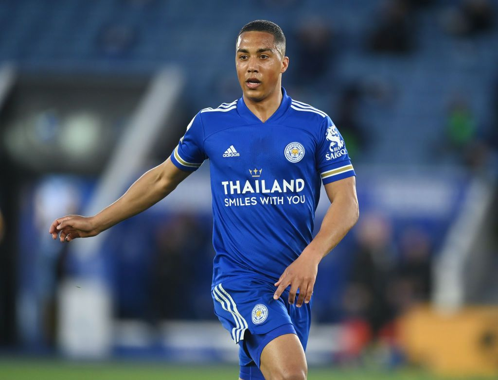 NEWCASTLE UPON TYNE, ENGLAND - JANUARY 03: Youri Tielemans of Leicester City celebrates after scoring their sides second goal during the Premier League match between Newcastle United and Leicester City at St. James Park on January 03, 2021 in Newcastle upon Tyne, England. The match will be played without fans, behind closed doors as a Covid-19 precaution. (Photo by Michael Regan/Getty Images)