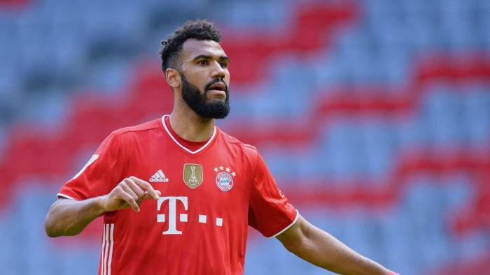 MUNICH, GERMANY - APRIL 10: Eric Maxim Choupo-Moting of FC Bayern München gestures during the Bundesliga match between FC Bayern Muenchen and 1. FC Union Berlin at Allianz Arena on April 10, 2021 in Munich, Germany. (Photo by Matthias Hangst/Getty Images)