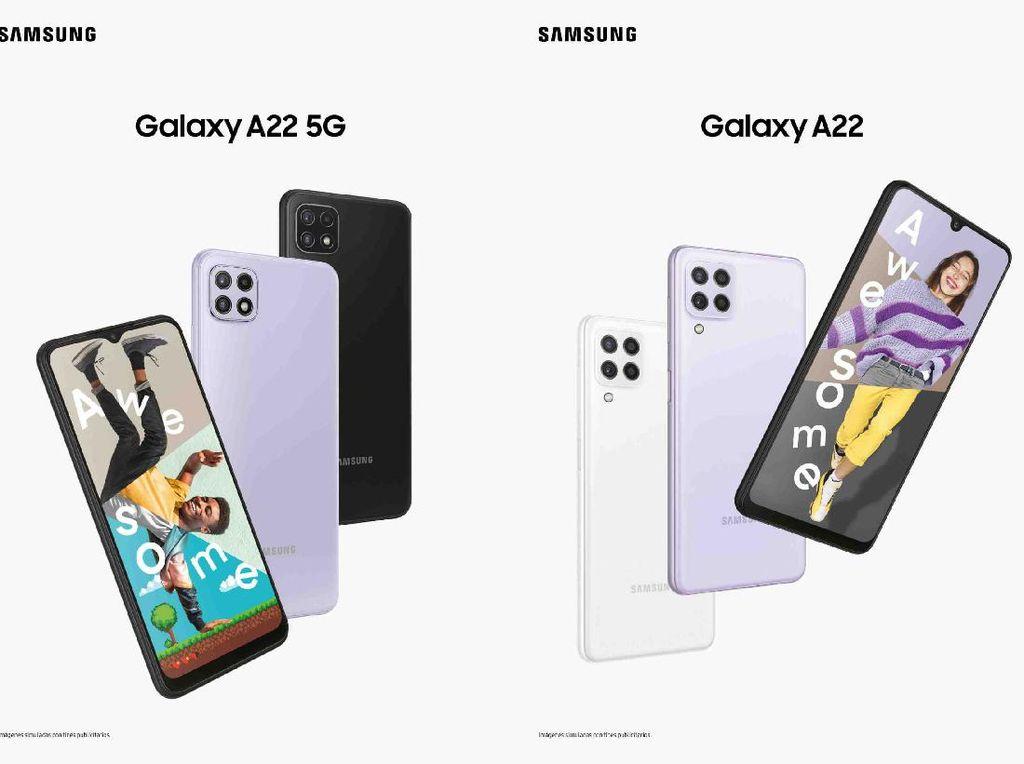 Ini Perbandingan Spesifikasi serta Harga Galaxy A22 5G dan LTE