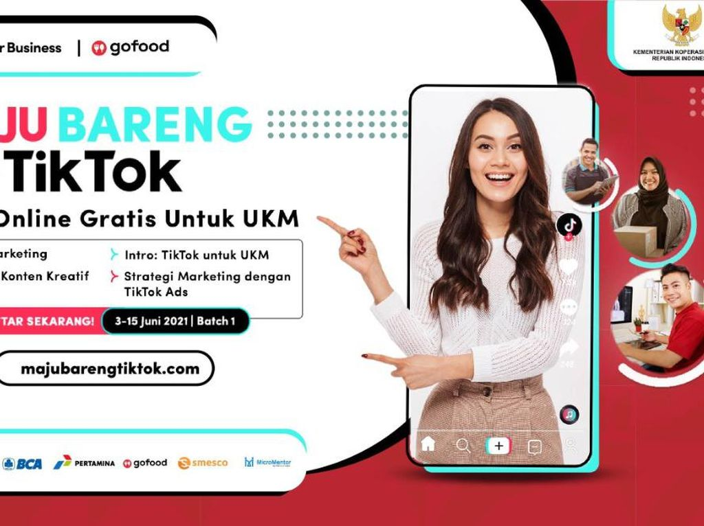 Gojek-TikTok Bagi Ilmu Pemasaran Buat UMKM Lewat Media Sosial