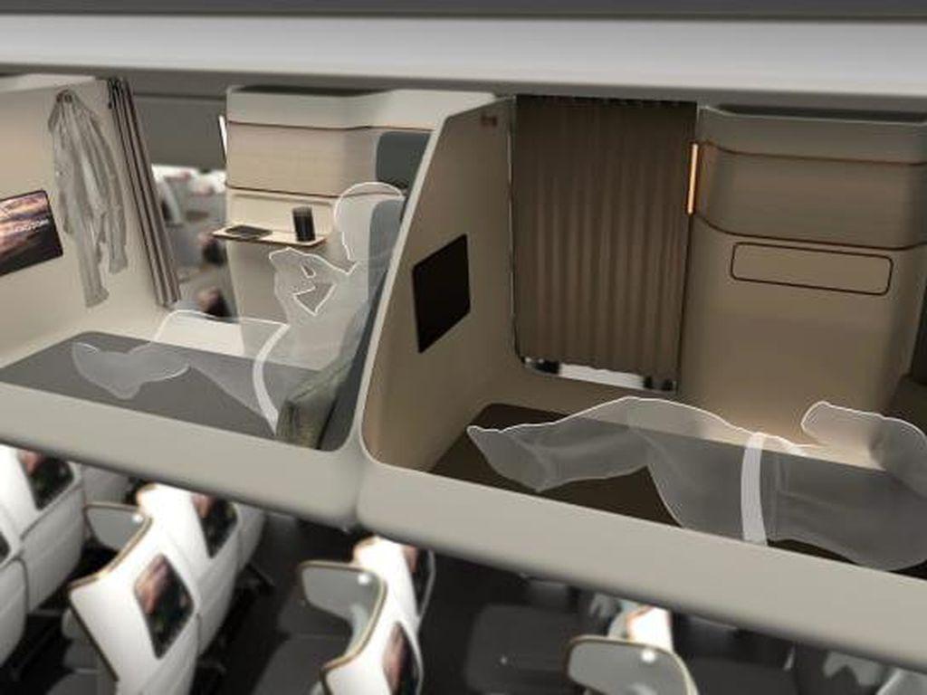 Kabin Double Decker-Kapsul Digadang Jadi Masa Depan Penerbangan