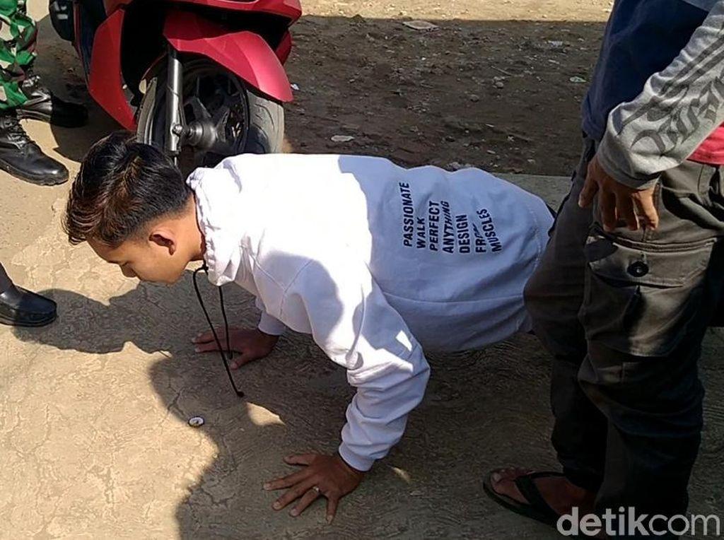 Kena Razia Masker, Warga di Pemalang Dihukum Baca Al Fatihah-Push Up