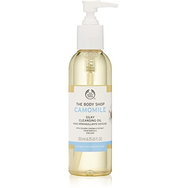 The Body Shop Camomile Silky Cleansing Oil (sumber : amazon.co.uk)