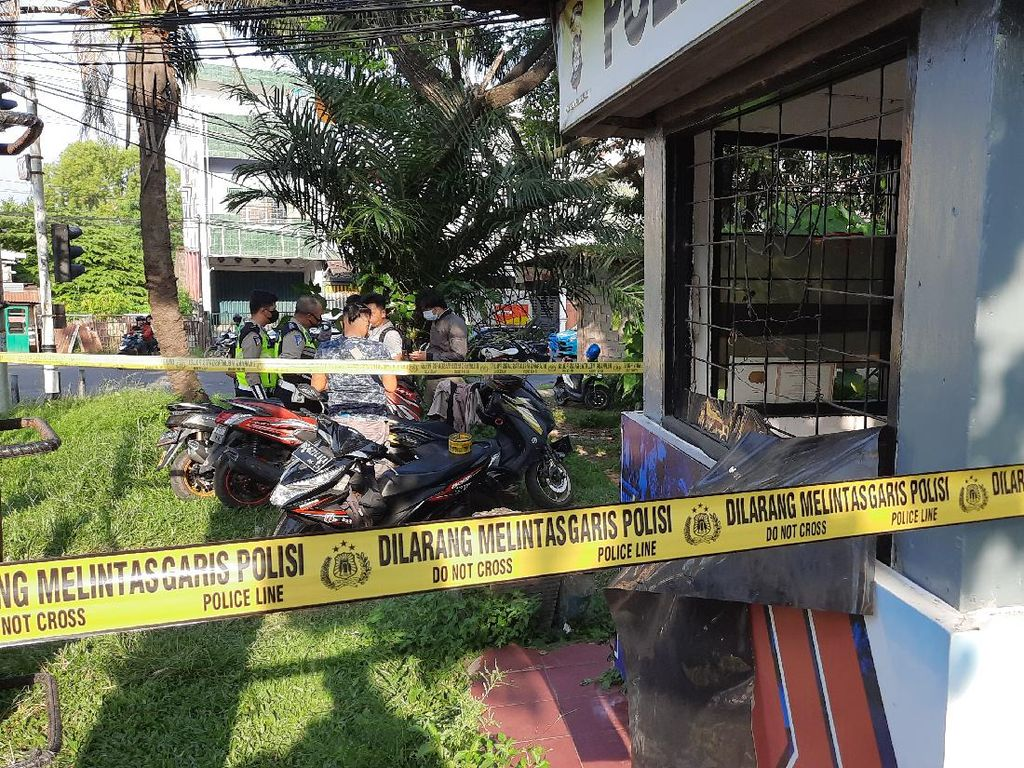 Geger di Palembang! Polantas Ditusuk Pria Tak Dikenal di Pospol