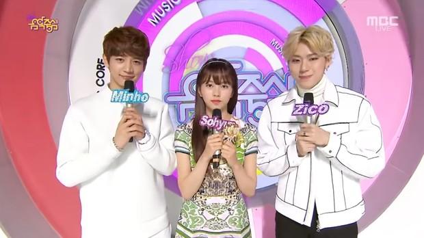 Choi Min Ho, Kim So Hyun, dan Zico sebagai MC Music Core/youtube.com/c/MrPatrickestrela