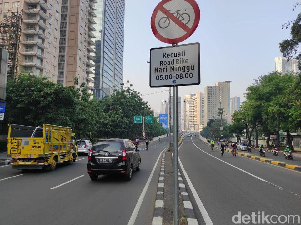 Kata Dishub Soal Rambu Khusus Road Bike di JLNT Kp Melayu yang Diprotes