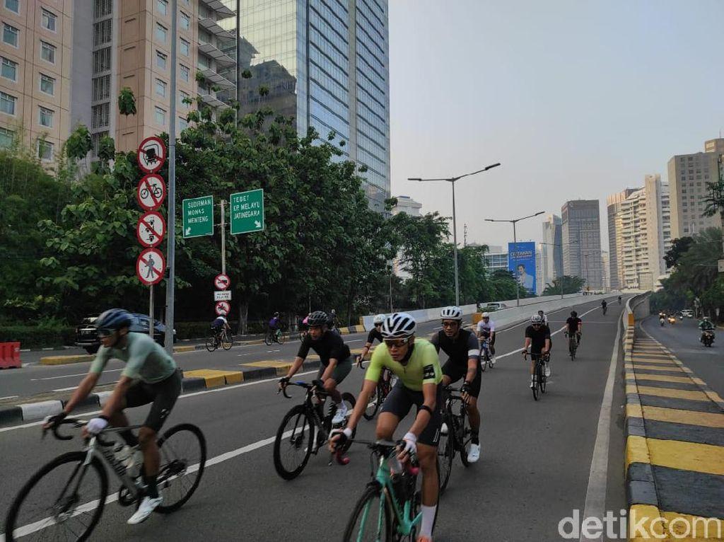 JLNT Kp Melayu-Tanah Abang Ramai Pesepeda Road Bike Pagi Ini