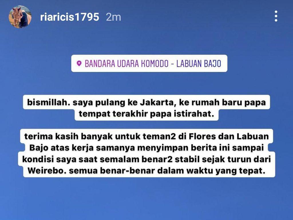 Ria Ricis Masih Ceria di Wae Rebo, Tak Tahu Ayah Meninggal Dunia di Jakarta