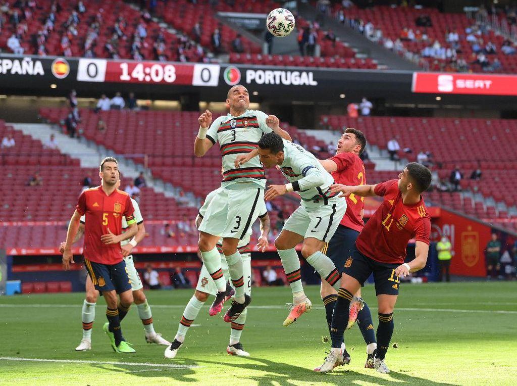 Laga Uji Coba: Spanyol Vs Portugal Tuntas 0-0
