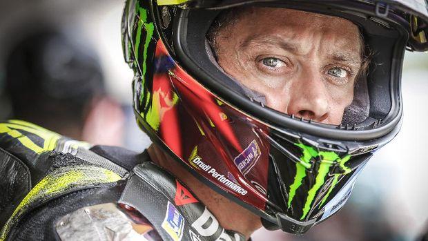 Valentino Rossi di Kualifikasi MotoGP Catalunya 2021.