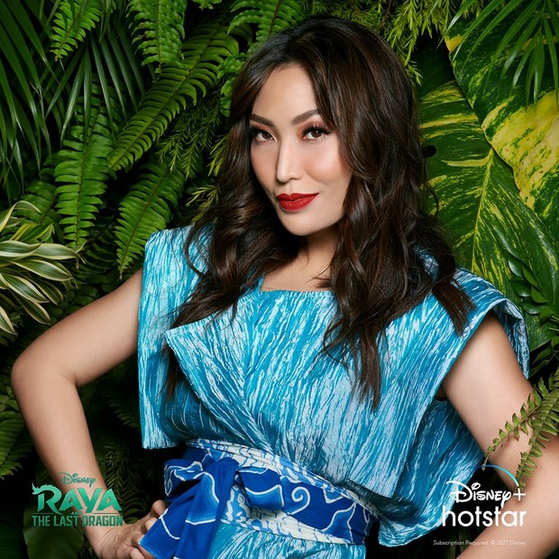 Ayu Dewi pengisi suara di film Raya and The Last Dragon (foto: instagram.com/mrsayudewi)