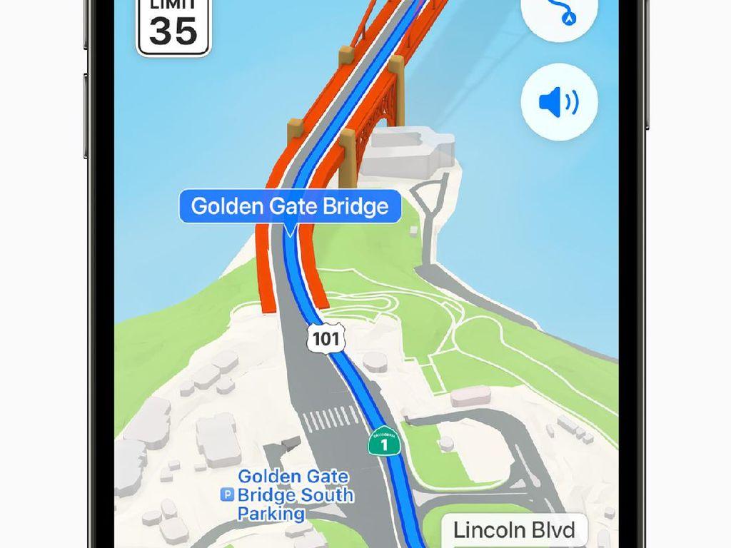 Maps Tambah Canggih di iOS 15, Apple Janjikan Hadir di Apple CarPlay