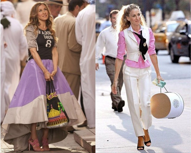 Carrie Bradshaw dalam Sex and The City.